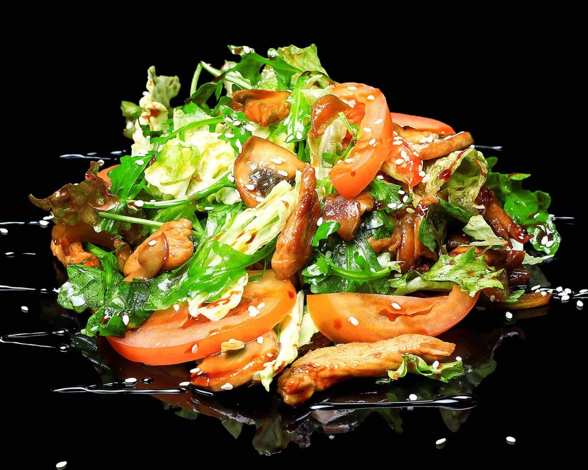 Гарячий салат