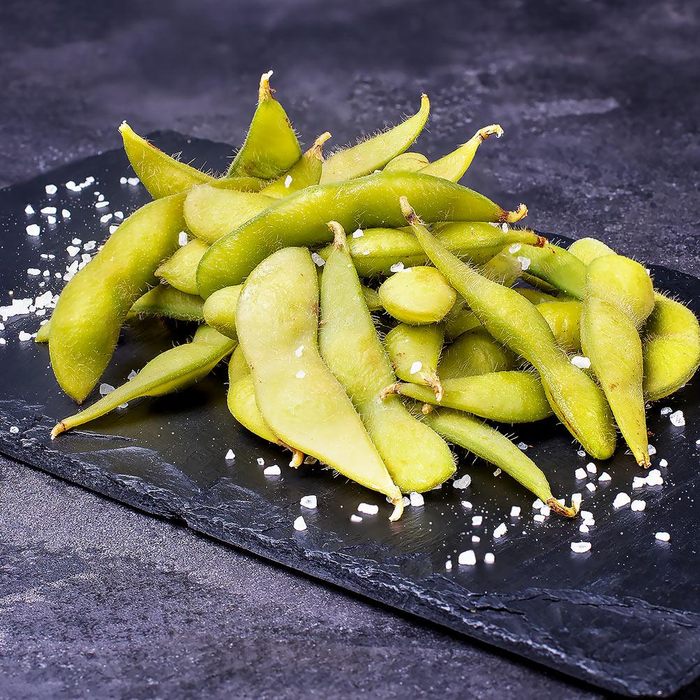 Эдамаме бобы с кимчи (к пиву)