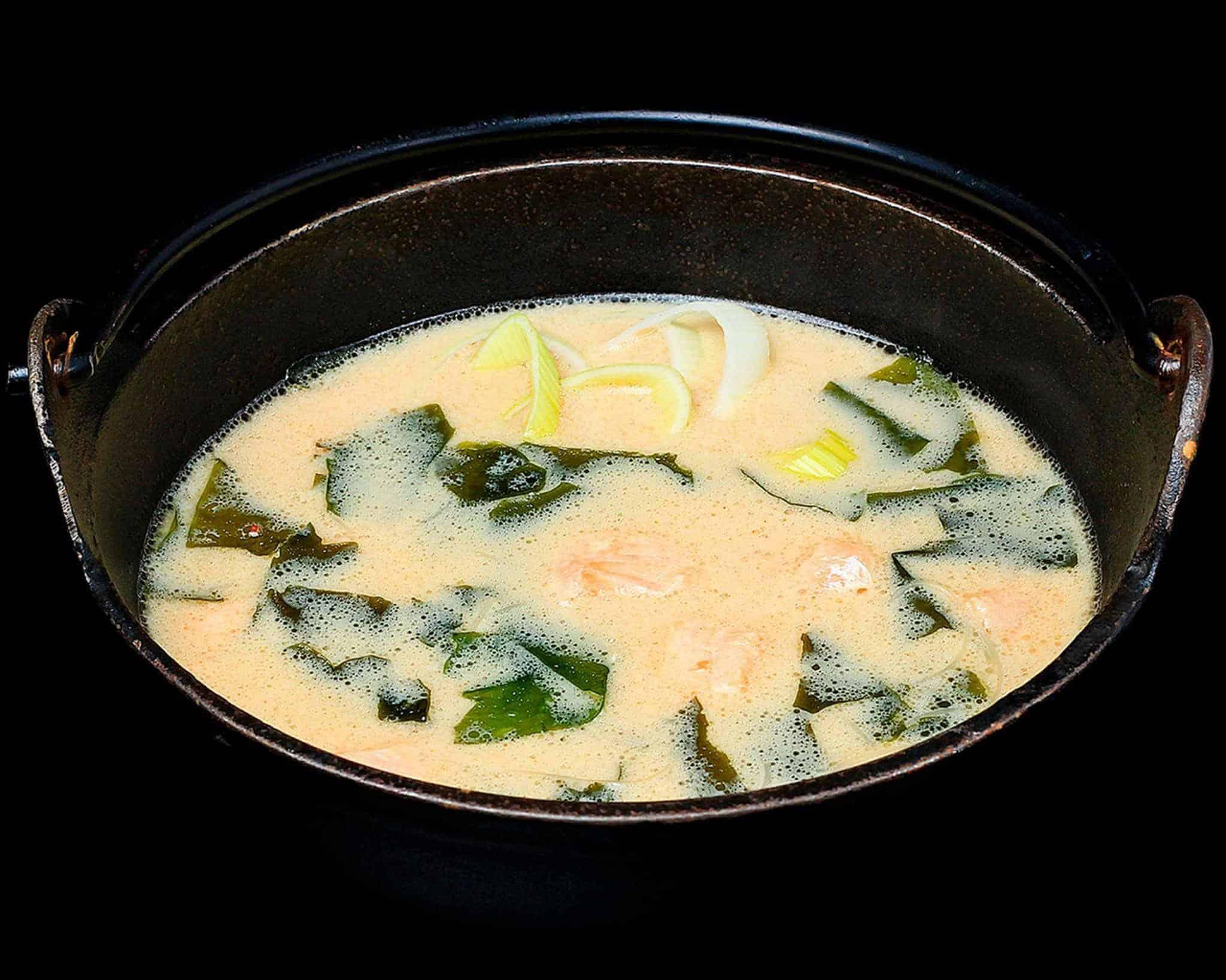 Сырный мисо суп